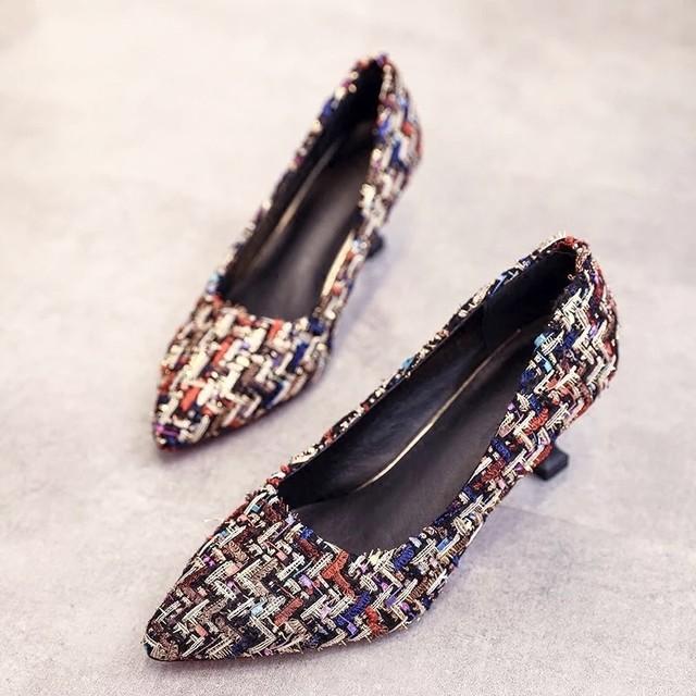 ◆予約◆colorful tweed heels
