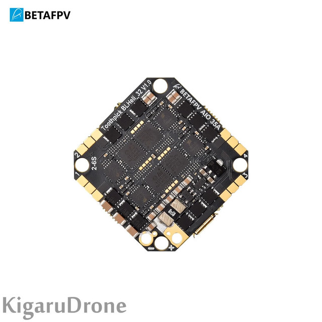 【TWIG ET5/X-Knight5純正FC】 BetaFPV Toothpick F4 2-6S AIO Brushless Flight Controller 35A(BLHeli_32)