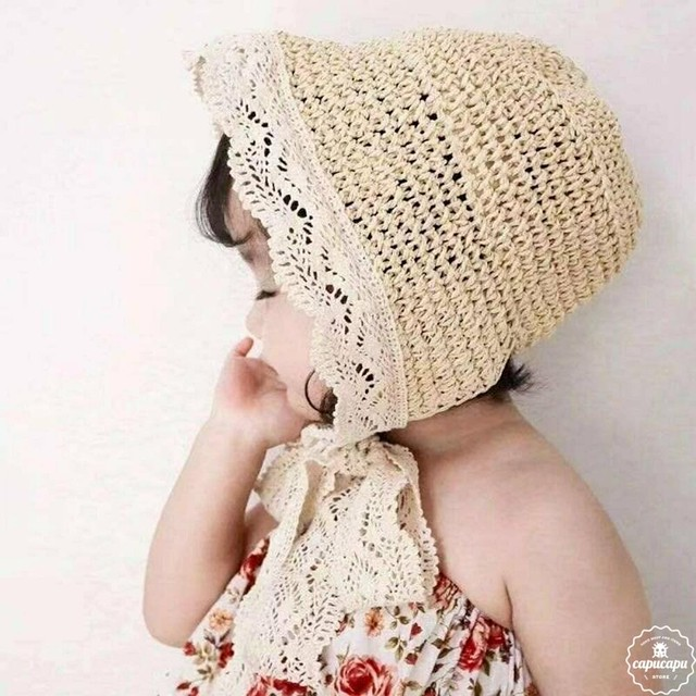 «即納» Lace straw hat 2colors レースストローハット