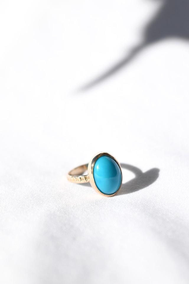 K10 Turquoise Design Ring 10金ターコイズデザインリング