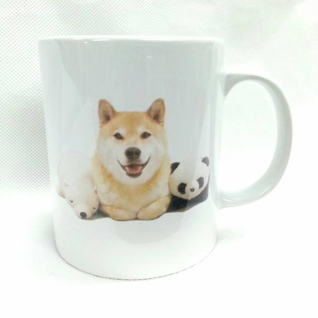 柴犬まる ーぷりけつ3兄弟ー 陶器マグカップ