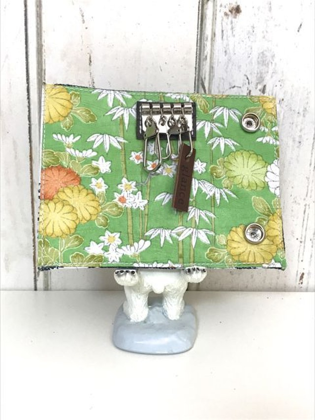 key case ( flower) antique  kimono