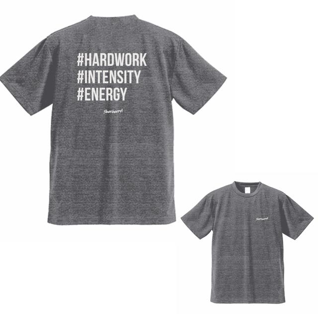 #SHOEHURRY 3KEYWORDS DRY T-SHIRTS|ドライTシャツ(ヘザーチャコール/ホワイト)