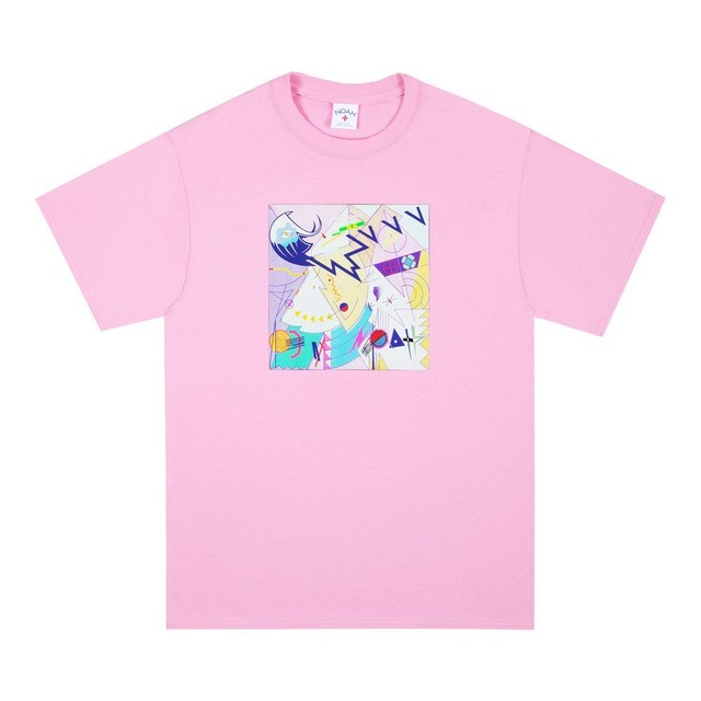 Abstract Tee(Candy Pink)