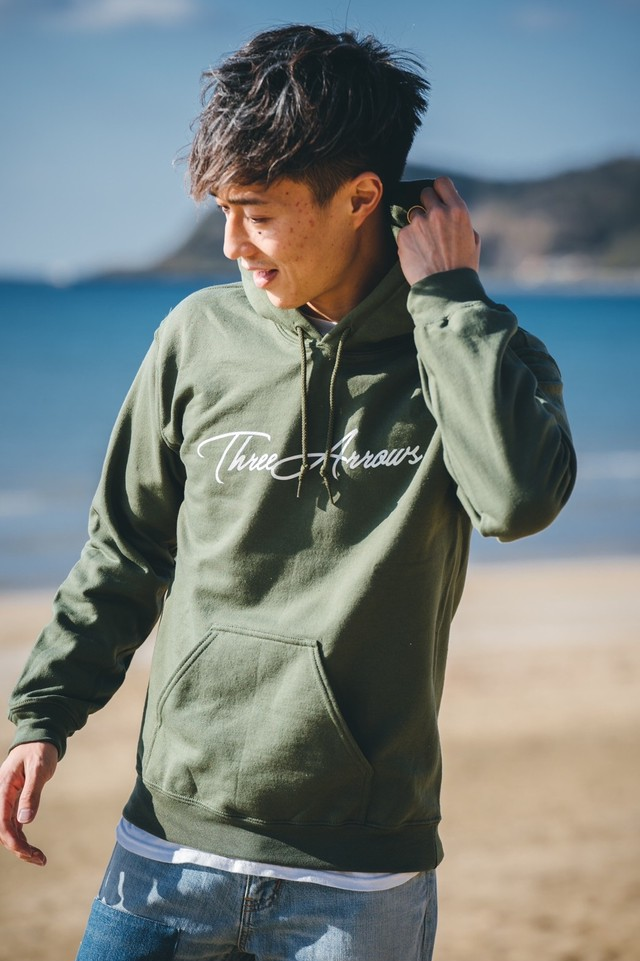 ThreeArrows MULCH LOGO Hoodie (grey)