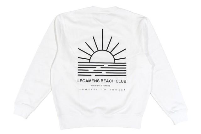 【beach girl logo sweat】/ white