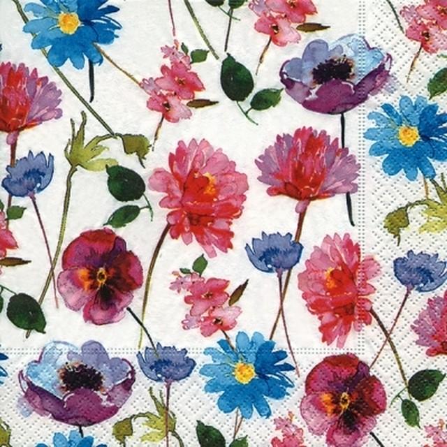 【Paper+Design】バラ売り2枚 ランチサイズ ペーパーナプキン BLOSSOM RAIN ホワイト