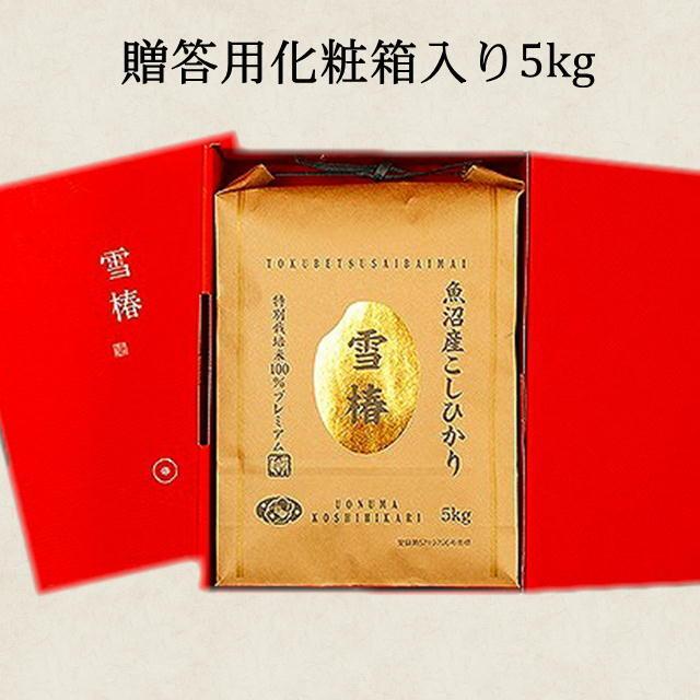 【送料込】令和2年産 魚沼産特別栽培コシヒカリ100% 雪椿【白米5kg】