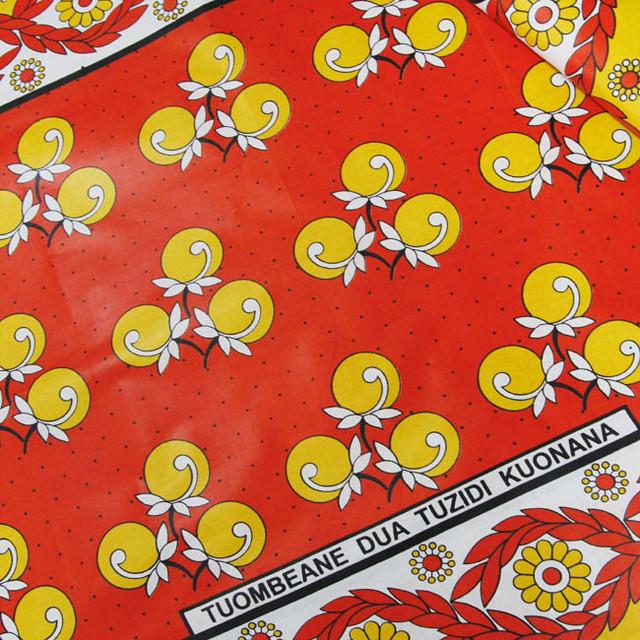 カンガ|ルージュオレンジ × クロムイエロー