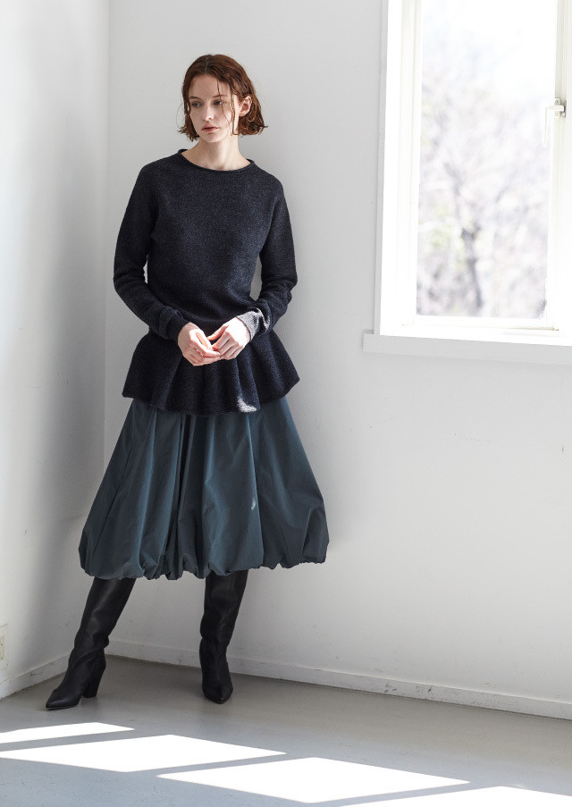 Taffeta gather skirt
