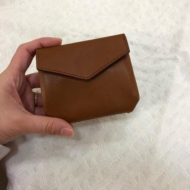 SARANAM (サラナン) ミネルバレザーアコーディオン財布 BROWN