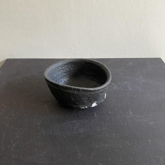 清水 善行   黒釉茶碗