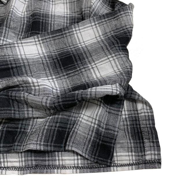 【Cat & Parfum】Cropped Check Shirts