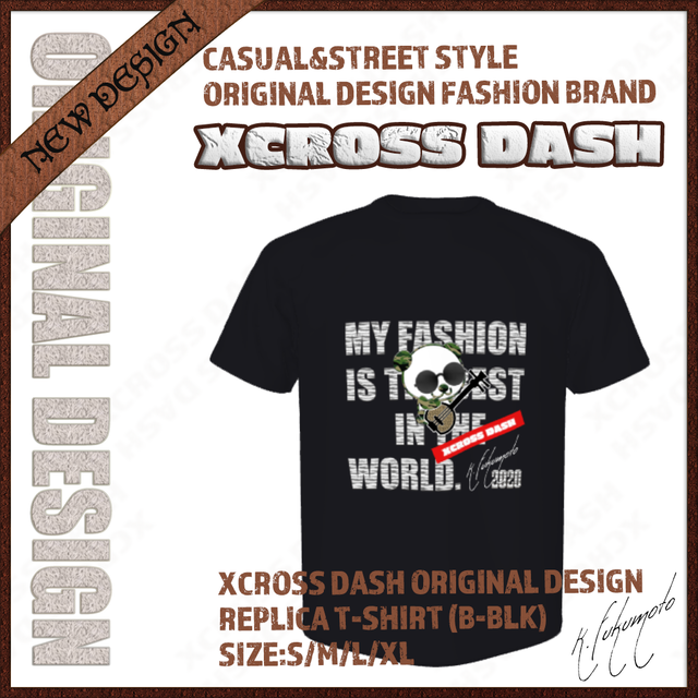 XCROSS DASH 2020 REPLICA T-SHIRT (B-BLK) レプリカデザインTシャツ