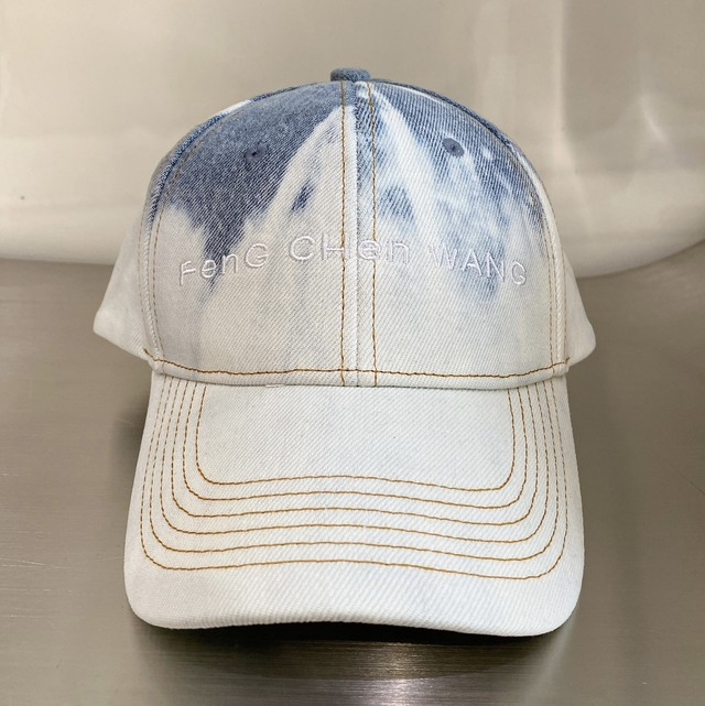 FENG CHEN WANG / DENIM WASHED DENIM BASEBALL CAP