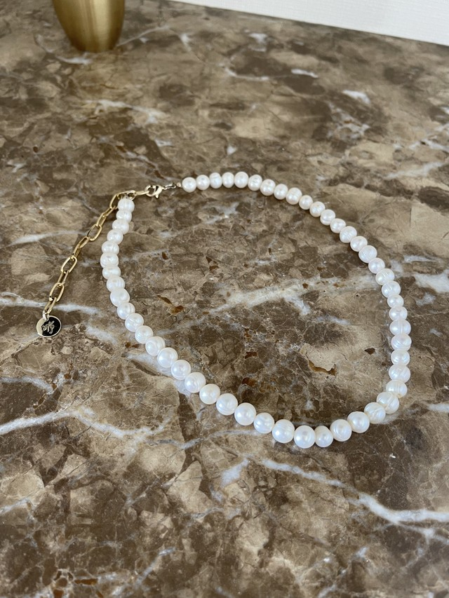 pearl chain necklace 7/8 21:00 ~ 再販 (再販)