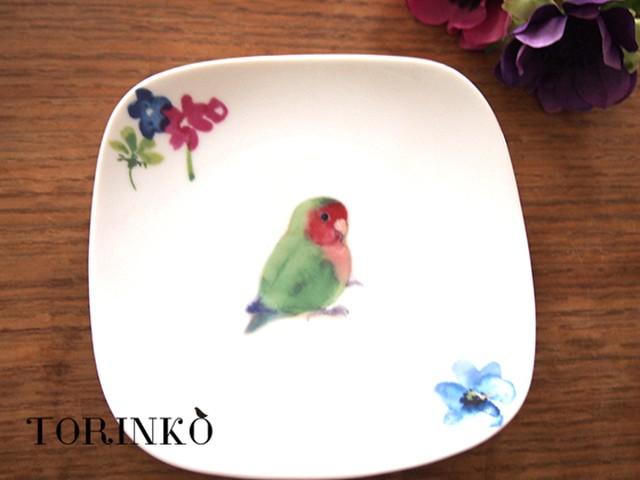 コザクラインコ ノーマル とお花の皿