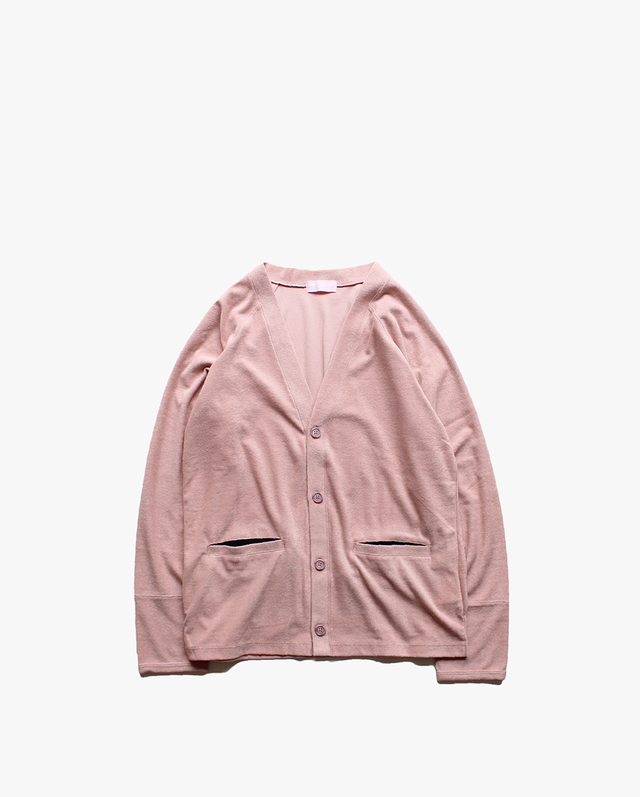 "EACHTIME. ""Pile Cardigan"" Pink"