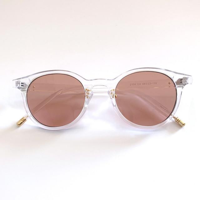 クリアフレームカラーサングラス (L20029-041)