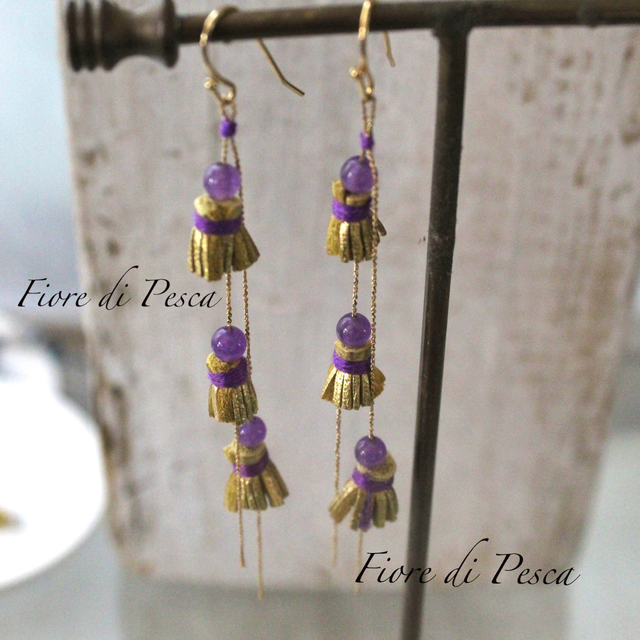 Beatrice Tassel Pierce(Earing) Purple