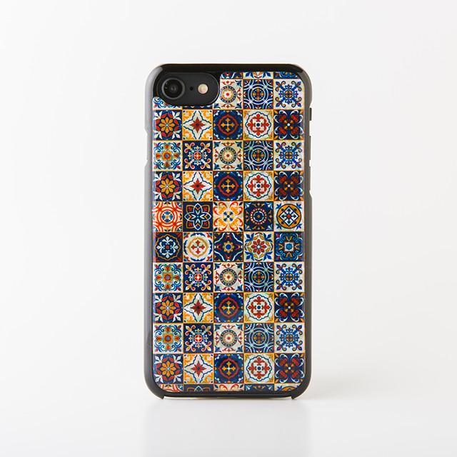 iPhone/Xperia/Galaxyスマホケース(マジョリカ・黒カバー)[天然貝ケース・螺鈿アート]