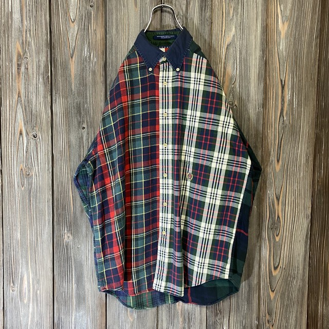 [TOMMY]90s crazy pattern switching design shirt