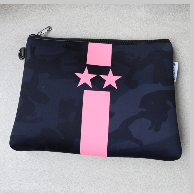 NEON Color pink clutch