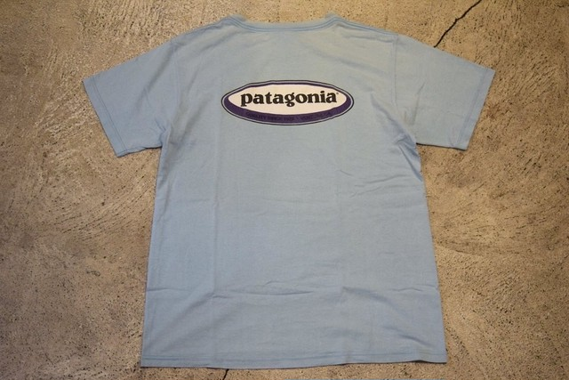 USED patagonia Oval logo T-shirt S made in USA T0492