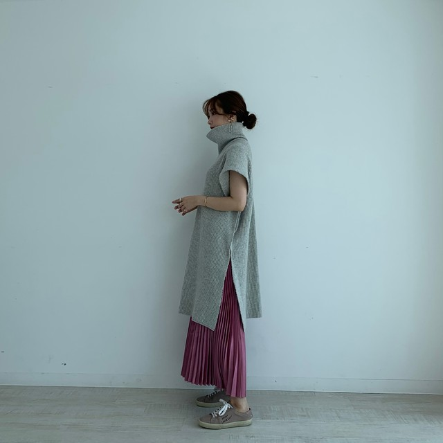 2way turtle poncho /  light gray (即納)