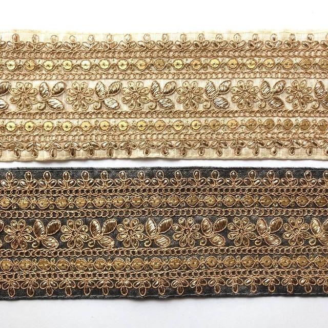 太幅G刺繍インドリボン(7色)
