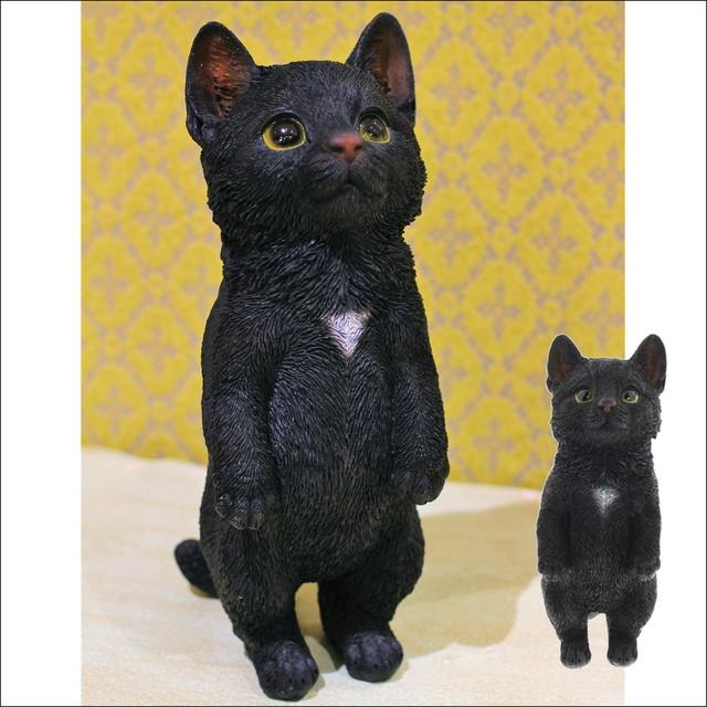 黒猫 ネコオブジェ  K  type   猫 置物 ネコ雑貨/浜松雑貨屋C0pernicus