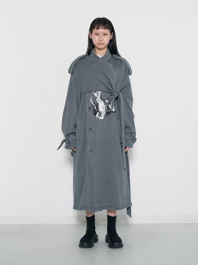"""(表示価格は前金30%の価格です)Belted Trench Coat """"Dead Pigeon"""""""