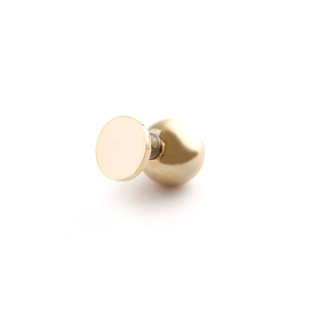 MAYU/PEARL RIVETS/Three Quarters Gold 14mm Gold(片耳)