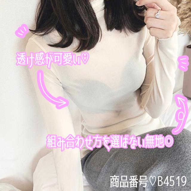 【スタッフ♡イチ推し】インナー トップス シンプル 無地 ハイネック 3色 B4519