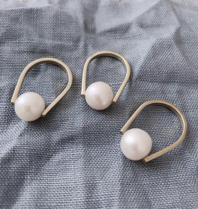 pearl ring (PeR-3) silver 9.10号