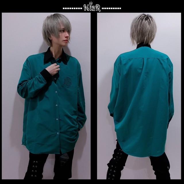 NieR BIGシャツ【GREEN×BLACK】