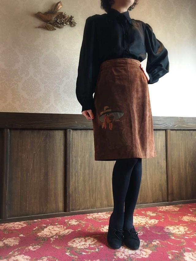 スエード ワンちゃんスカート