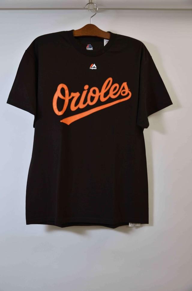 【Lサイズ】 Majestic マジェスティック Orioles Tee Tシャツ BLACK 400601190703