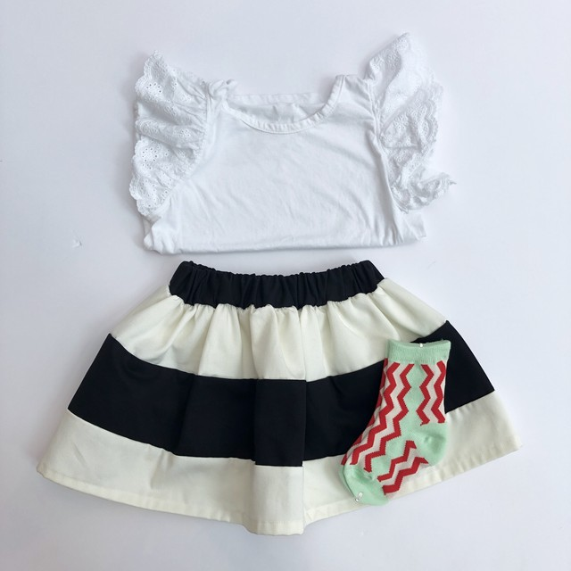 kobitodepunch / kobito skirt 【border】S.M.L