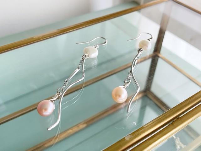 【6月の誕生石】ポジティブへと気持ちを整えてくれる淡水パール(真珠)イヤリング/ピアス