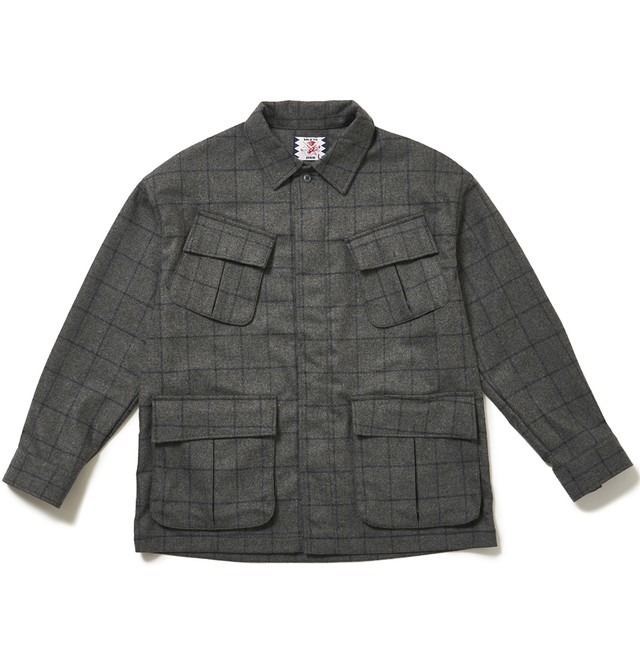 【SON OF THE CHEESE】Wool Fatigue Shirt