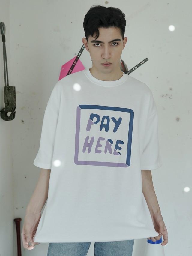 【即日出荷】PAY HERE Tシャツ メンズ ユニセックス 半袖 カジュアル