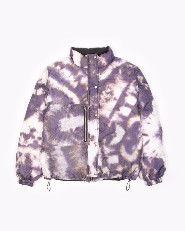 MAIDEN NOIR REVERSIBLE PUFFER JACKET - BLACK / PURPLE ASH DYED