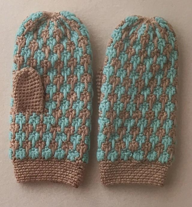 [編み物キット]かぎ針で編む編み込みミトン