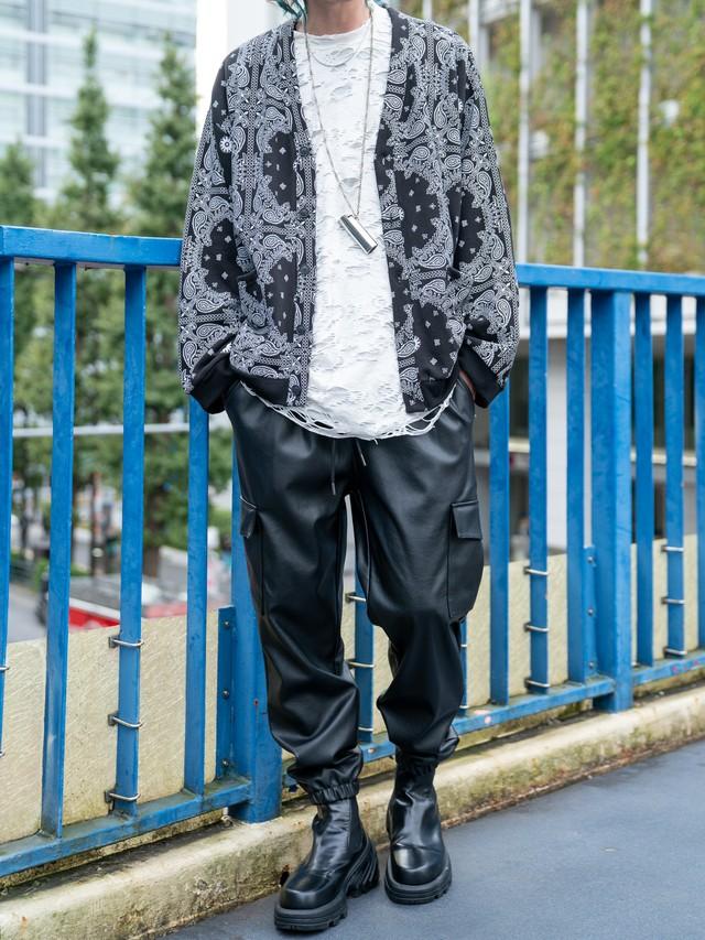 【MENS - 1 size】PAISLEY SWEAT CARDIGAN / 2colors