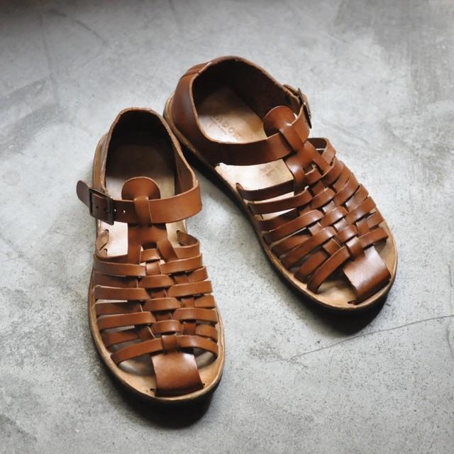 BRADOR Men's leather sandals -D-