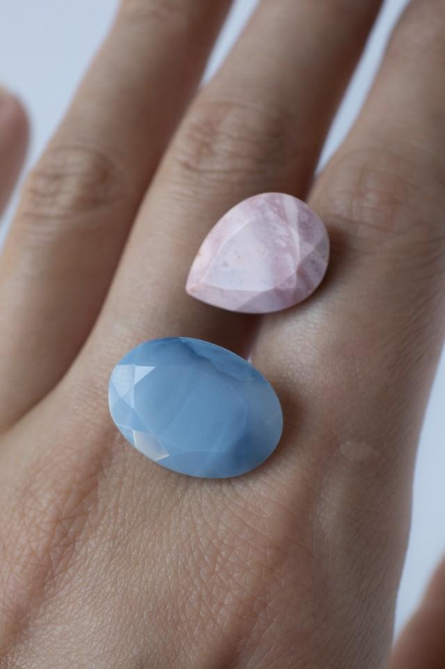 Pink & Blue Opal Set - 016