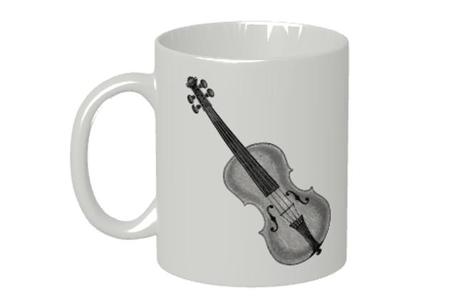 (名入れ無し)バイオリンのマグカップ