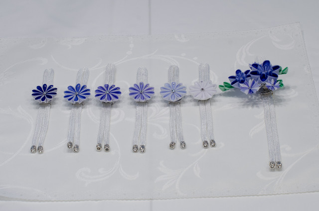 ナプキンリングとボトルキーパー(丸つまみ)ブルー