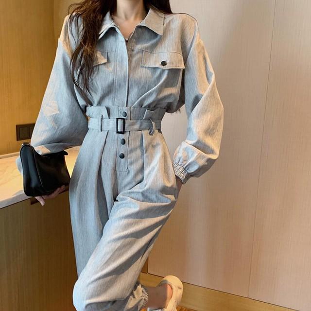 【セット】「単品注文」ストリート系長袖POLOネックジッパージャケット+パンツ51323881